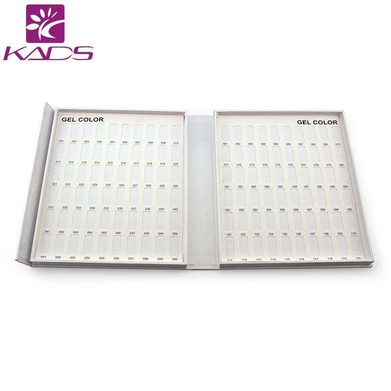 False Nail Display 120 blank book Acrylic Polish wood chip inside nail polish holder color chart