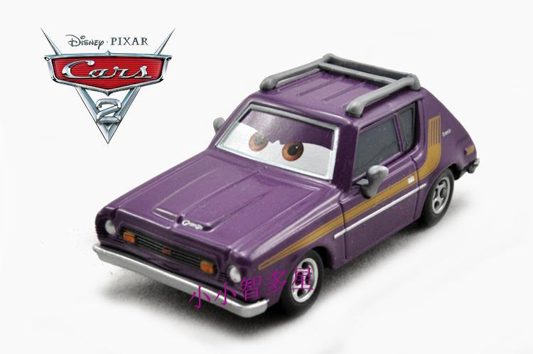 Pixar Cars 2 Toys - Grem Purple Car Toy - 1:55 Scale Loose New In Stock - Free Shipping(China (Mainland))