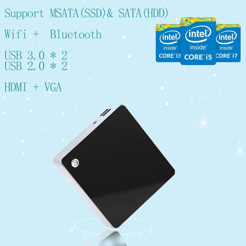 Cheapest Small TV Box Mini PC Intel Nuc PC Barebone PC I5-4258U HD 5100 SUPPORT 500G HDD VGA HDMI 4K HTPC Computer(China (Mainland))
