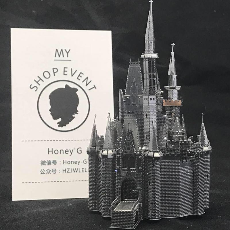 Cinderella Castle Puzzle 3D Metal Assembly Model Creative Gift Souptoys Fairy tale world Prince gift Collection Classic(China (Mainland))