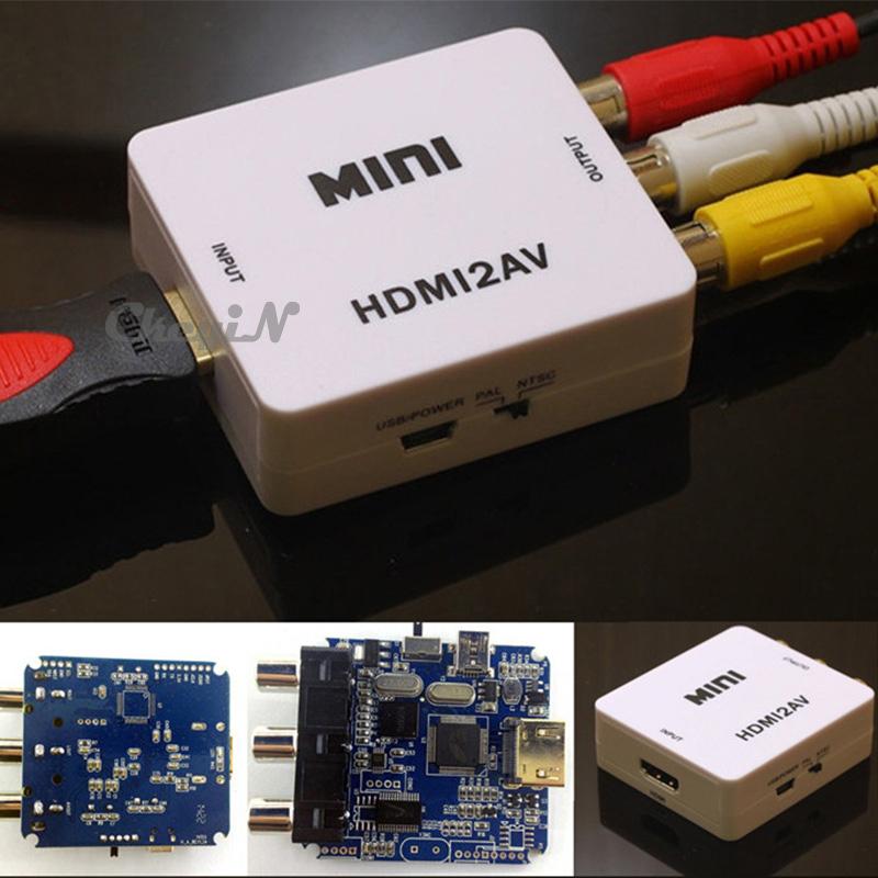 HDMI to AV Adapter HDMI to Cvbs Converter HDMI to RCA Signal Cable NTSC PAL Adapter for TV PS3 VHS VCR DVD Hdmi2av DDA55-P5658(China (Mainland))