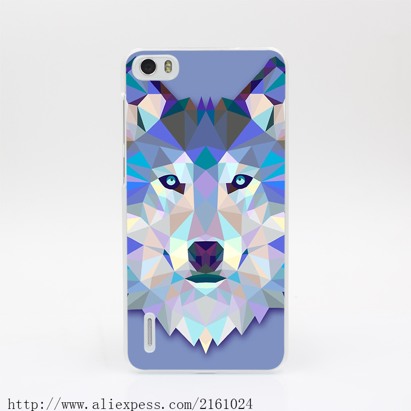 2557T Wolf Animals Gift Hard Case Cover for Huawei P6 7 P8 P9 Lite Plus Honor 6 7 4C 4X G7(China (Mainland))