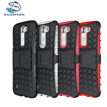 Buy , OUZIFISH LG K7 5.0 inch Shockproof Hard Case LG K7 LTE M1 Tribute 5 Tires Stand Phone back Cover for $3.19 in AliExpress store