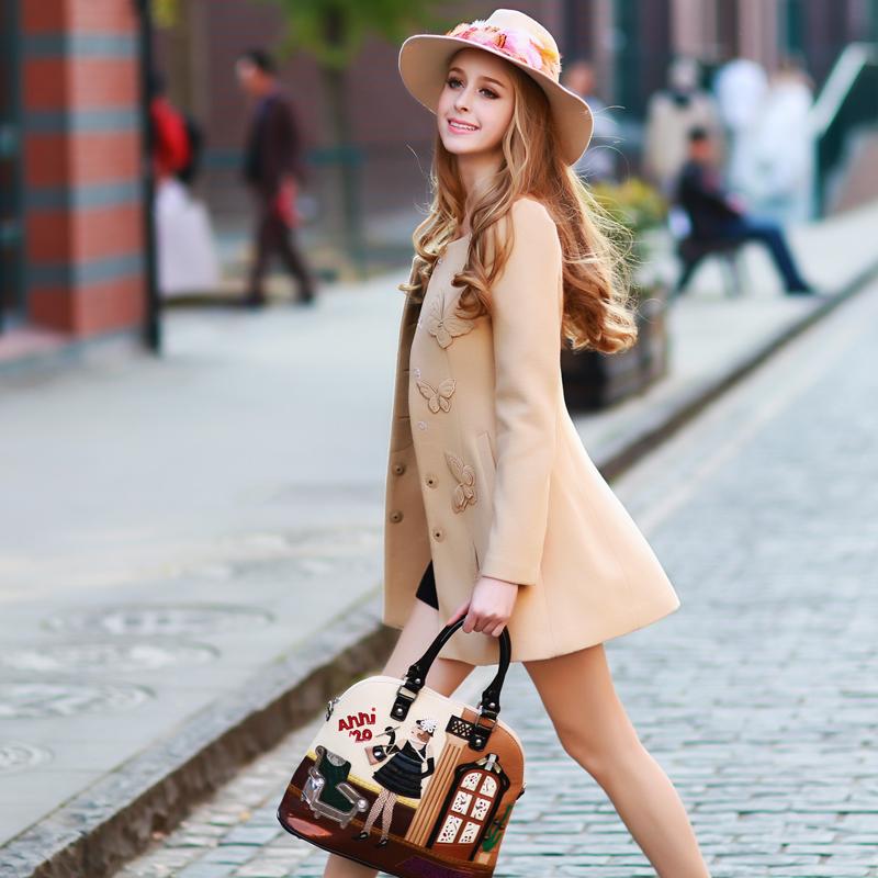 Original 2016 Brand Autumn and Winter Casacos Camel Butterfly Plus Size Slim Casual Woollen Coats Women WholesaleОдежда и ак�е��уары<br><br><br>Aliexpress