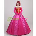 Deluxe Sleeping Beauty dress movie Princess Aurora Dress Cosplay Princess Costume grown dress for adults