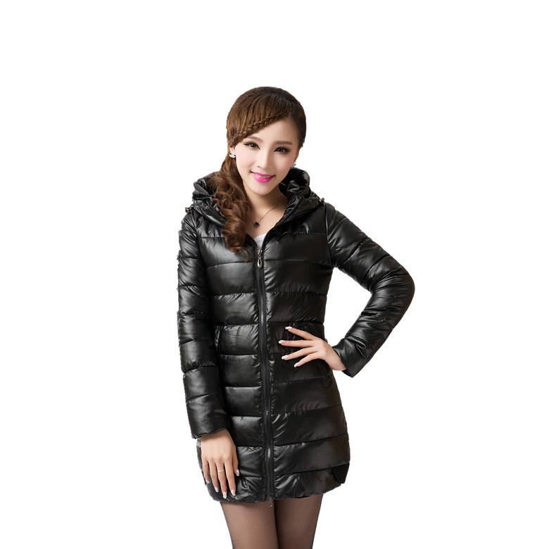 2016 winter down jacket women long coat parkas Female Warm Clothes PU lint thick cotton clothes female models down cotton(China (Mainland))