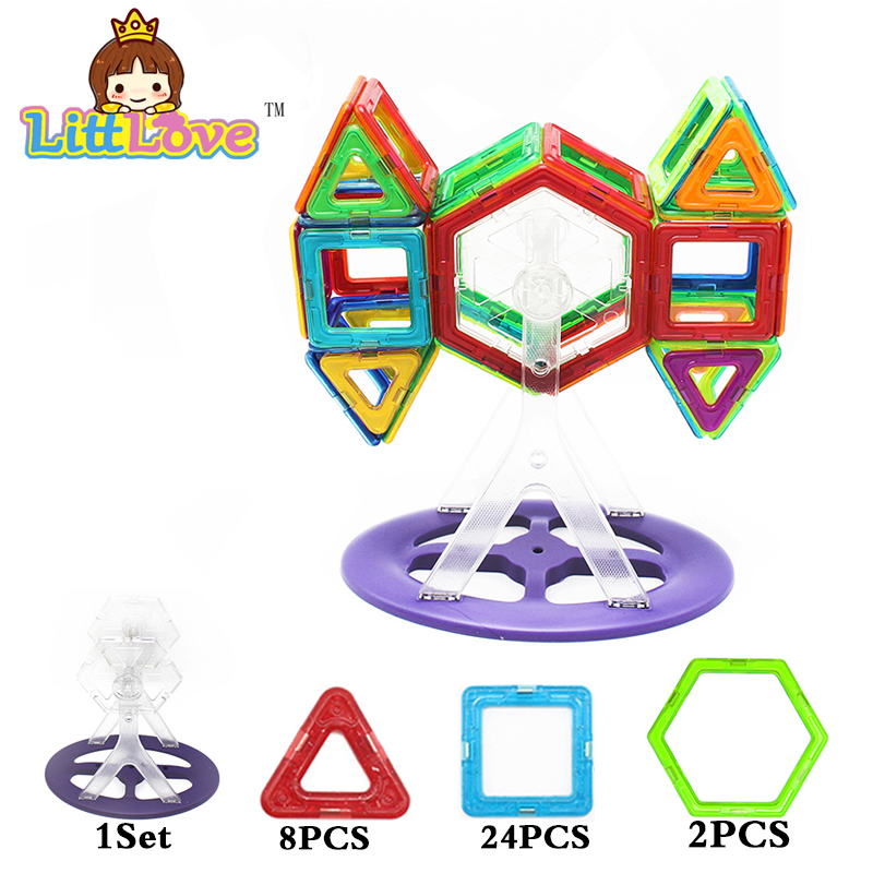 35 Pcs Magic Building Block Magnetic Toys 3D DIY Educational Game Construction Stacking Sets Bricks Toys For Children(China (Mainland))