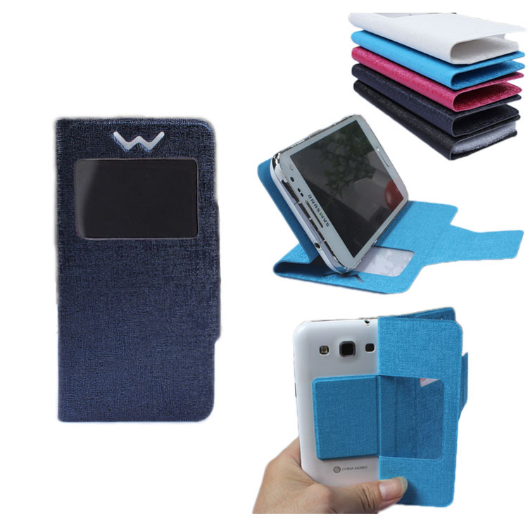 "In Stock ! Universal Flip PU Leather Case Cover For OMOTO O2 5"" Mobile Phone(China (Mainland))"