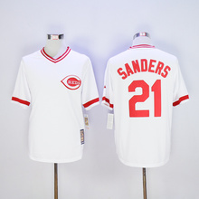 Cool Jersey Mens #19 Joey Votto #21 Deion Sanders Embroidery Logos Cincinnatis Baseball Jersey 100% stitched(China (Mainland))
