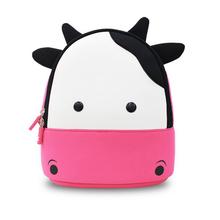 Children school bags Waterproof 3D Cow cartoon animal backpack girls kids backpacks kindergarten school bag trolley bag school(China (Mainland))