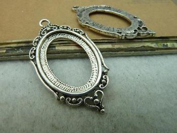 Min order is $15(Mixed order ) 20pieces/LOT 24mmx42mm Antique silver base charm