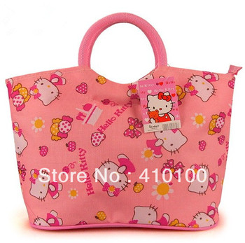 K01 new arrive fashion lovely cartoon Hello Kitty tote bag purse shopping handbag/ladies female women free shipping