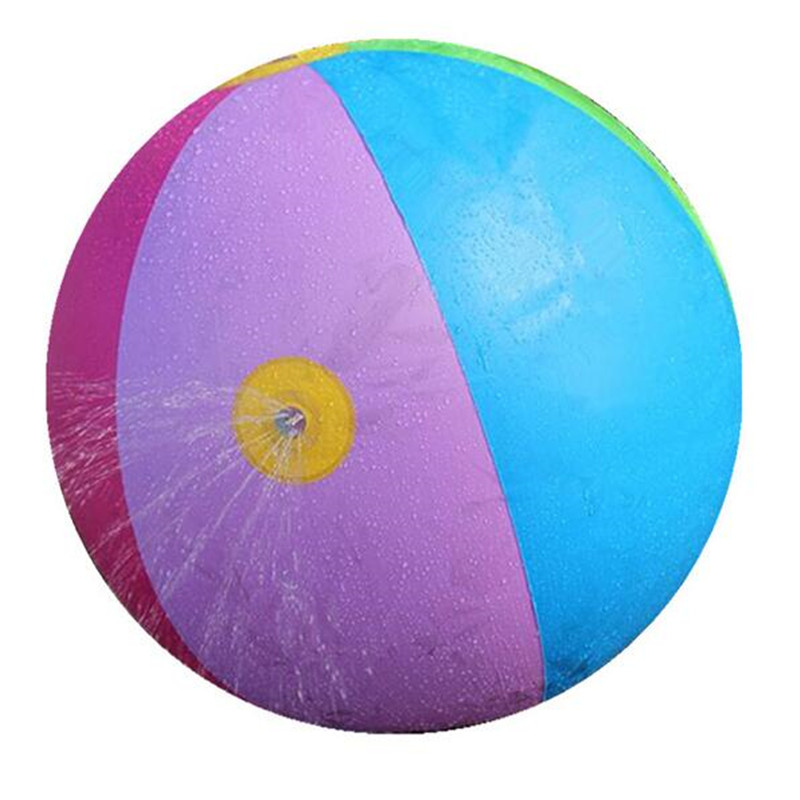 75CM Inflatable Water Spray Ball Outdoor Fun Hot Toys Swimming Party Favors Children Summer Favorite Water Playing Inflated Toy(China (Mainland))