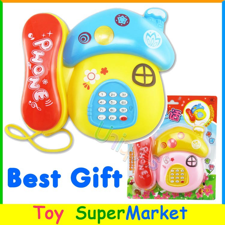 Kids Toy Phone with Music and Light Electronic Toys Telephone Baby Musical Phone Mobile Machine Best Gift for Children(China (Mainland))