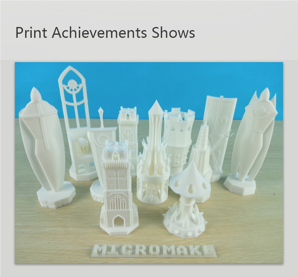 2016 Micromake 3D Printer Pulley Version Linear Guide DIY Kit  Kossel Delta Auto Leveling Large Printing Size 3D Metal Printer