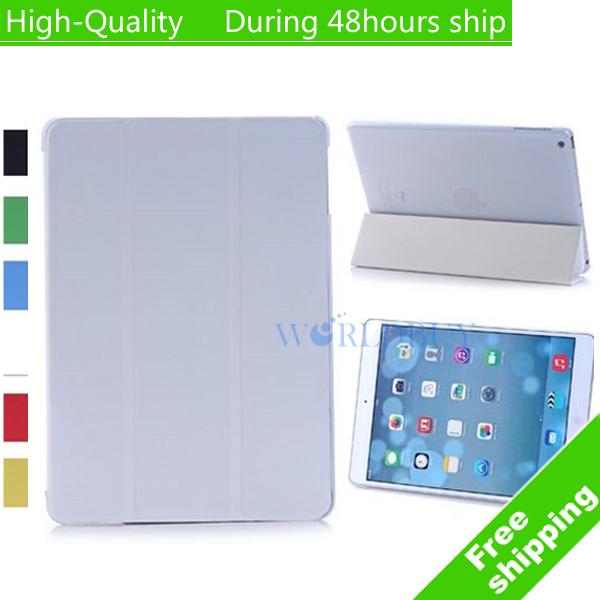 Здесь можно купить  High Quality Tri-Fold folio Leather Smart Case with Stand Cover for Apple iPad 5 Air Free Shipping EMS DHL UPS CPAM HKPAM  Компьютер & сеть