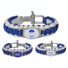 Custom Greek Letters 550 Paracord Bracelets Phi Beta Sigma Fraternity Adjustable Survival Bracelet