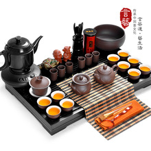 Tea set yixing lotus tea set solid wood tea tray set kung fu tea bwz40