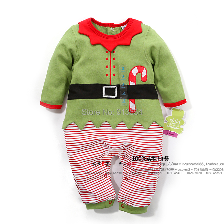 new 2015 baby Romper spring autumn baby clothes newborn Christmas Rompers baby boy / girl Long sleeve jumpsuit baby wear(China (Mainland))
