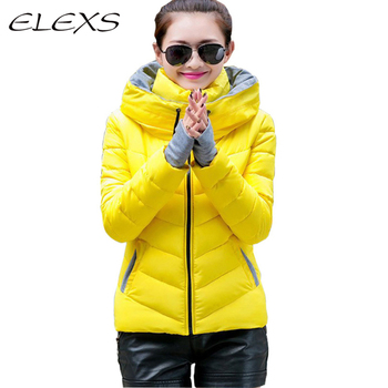Elexs Winter Wear Women Parkas Thicken Candy Color Women Coats TW1504