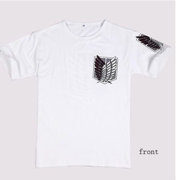 White Anime COS Attack on Titan Allen Survey Corps Cotton T-Shirt Clothing Apparel Anime Peripheral Products(China (Mainland))