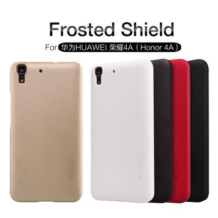 Y6 Nillkin Super Frosted Shield PC Back Cover For HUAWEI Honor 4A / Y6 Rubber hard matte case + Film + Registered Air Mail NK2(China (Mainland))