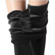 S-XL 8 Colors Winter Women Warm Leggings Elastic High Waist Plus Velvet Thick Slim Stretch Thick Trousers Female Leggings Women(China (Mainland))