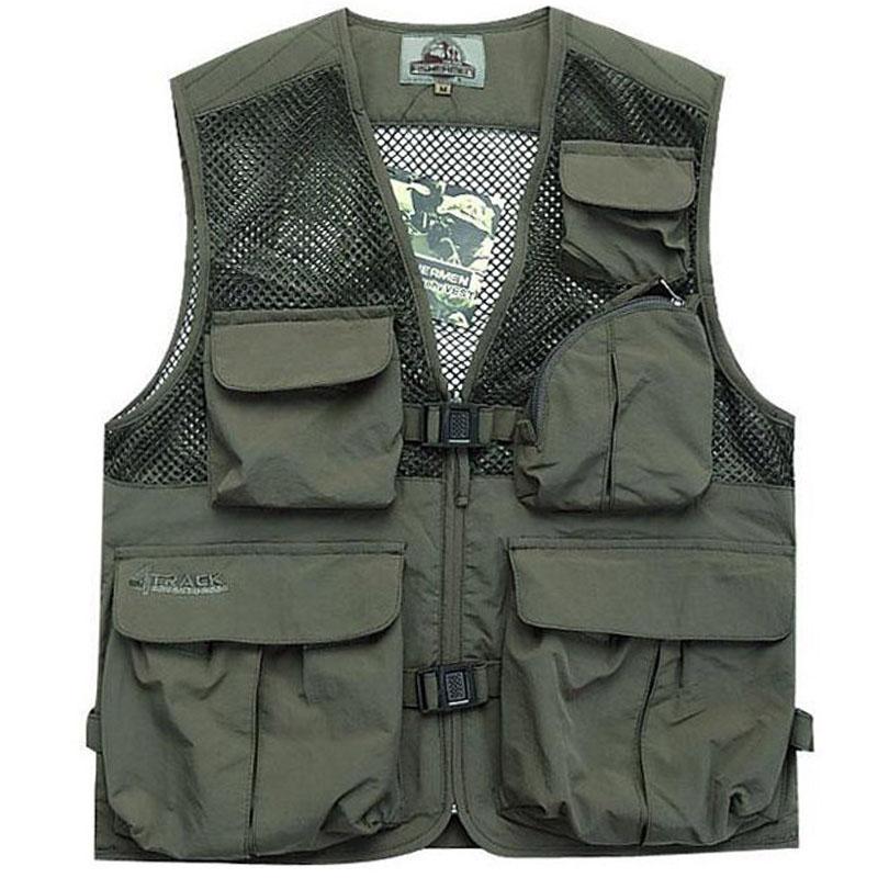 Man women outdoor vest multifunctional photography vest for Women s fishing vest