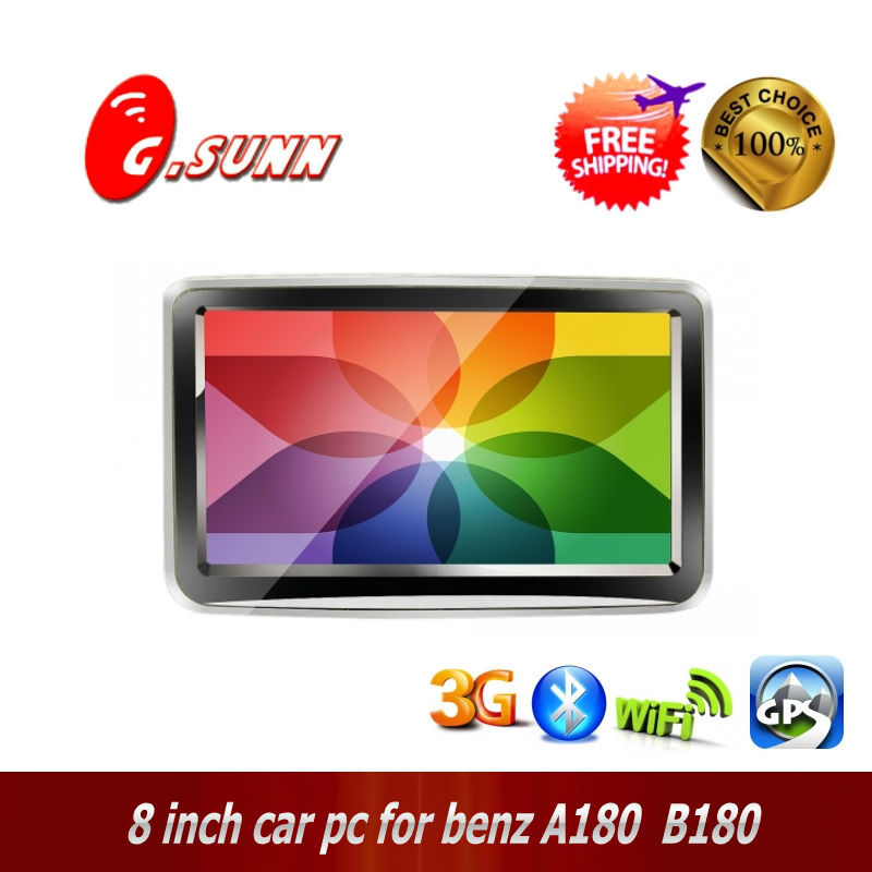 Latest car pc for Benz A180/B180 ! 8 inch 1080P Dual Core Android car pc gps Player GPS Navi PC for Benz A180/B180(China (Mainland))