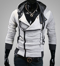 Best price and good quality!Men's casual hooded Casual Hoodie coat man cardigan slim Sweatshirts Jackets M-4XL(asian size)(China (Mainland))