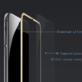 Aluminum alloy Tempered glass phone case For Apple iphone 7 plus Mobile phone Accessories Full screen