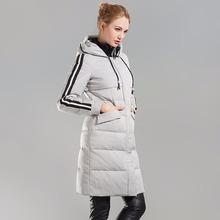 D'hiver de Femmes Vers Le Bas Manteau Canada Goode Parka 100% Blanc duvet de canard vers le bas Une Veste avec Un Capuchon Femelle noir argent tan Survêtement(China (Mainland))