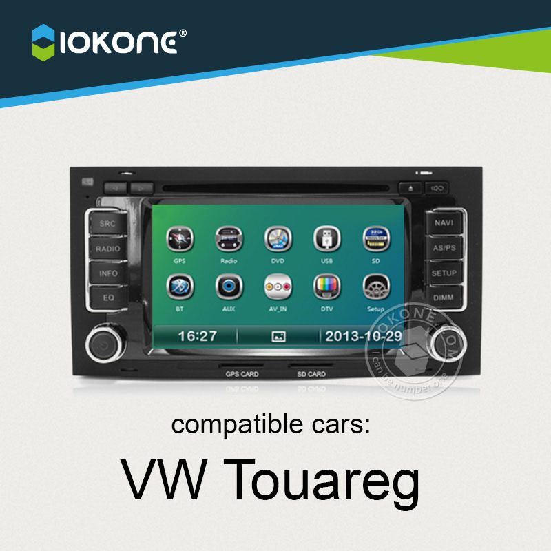 IOKONE  Car DVD Player For VW Touareg With Radio,Bluetooth,GPS,iPod,Steering Wheel Control,Canbus<br><br>Aliexpress