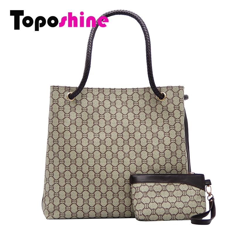 2015 Name Brand Women Tote Bag Set Women Genuine PU Leather Handbags Printing Desigual Bag Lides 3 Colors Bolos Feminina LX002(China (Mainland))