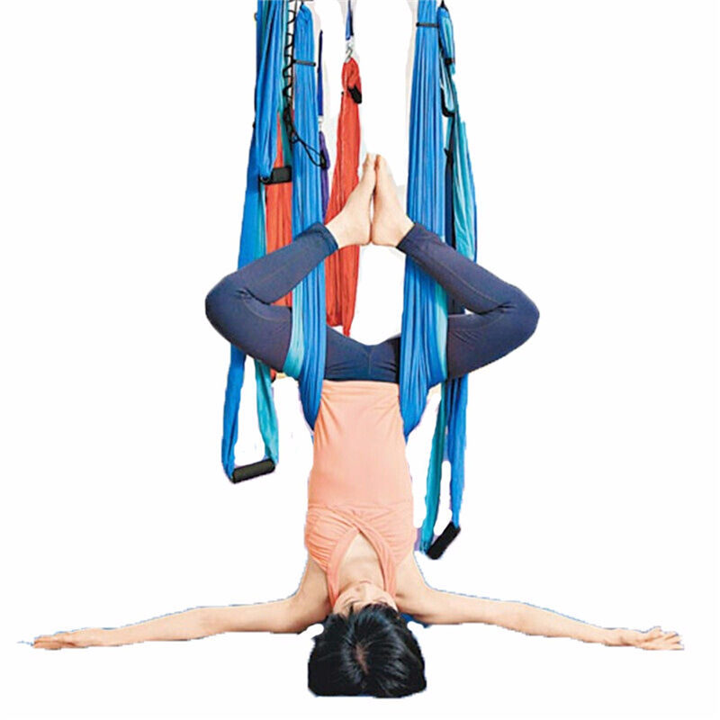 Inversion Therapy Anti-Gravity Home Yoga Swing Aerial Handle Traction Bearing Hammock Home Exercise Trainining Body Relaxation(China (Mainland))