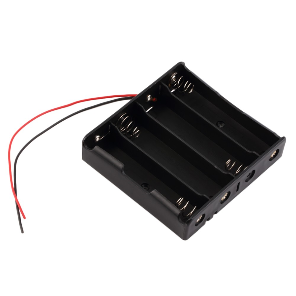 image for 16850 Battery Storage Case Plastic Storage Box Holder With Wire Leads