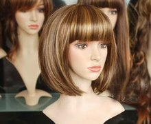 2012 Gorgeous short fashion BOB wig+cap Nice(China (Mainland))