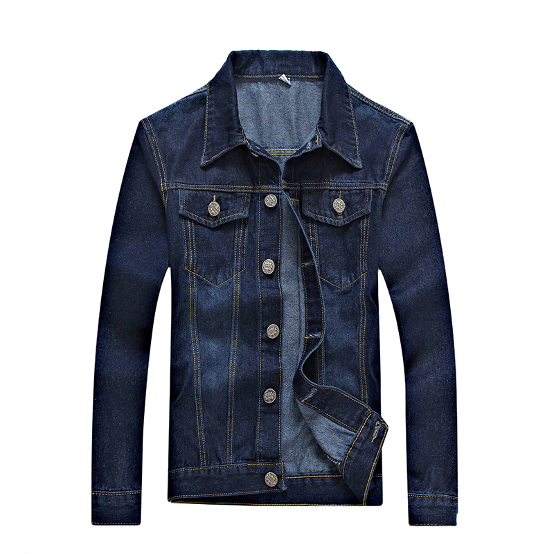 2017 New spring Denim Jacket Men's Outerwear Fashion Casual Coats Slim Fit Cotton Men winter overcoat,outwear, Men's Coat ,5XL(China (Mainland))