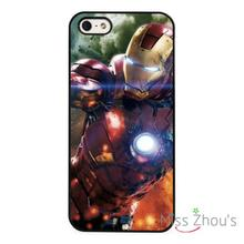 Ironman Superhero Marvel Action back skins mobile cellphone cases cover for iphone 4/4s 5/5s 5c SE 6/6s plus ipod touch 4/5/6