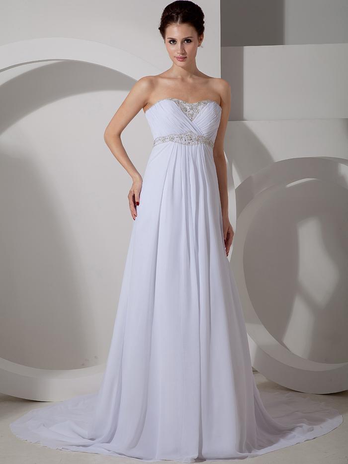 2016 maternity chiffon empire waist beach wedding dresses for Strapless bra corset wedding dress