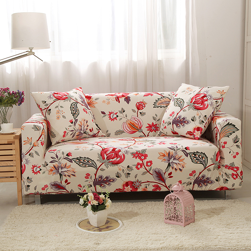 Floral Stretch Furniture Cover L Shaped Sofa Cover For Living Room Elastic  Universal Sofa Quality Wholesale Furniture Cover From China