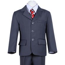2015 nuovo modo di alta qualità tre pc solido ragazzi formali grigio wedding suit(China (Mainland))