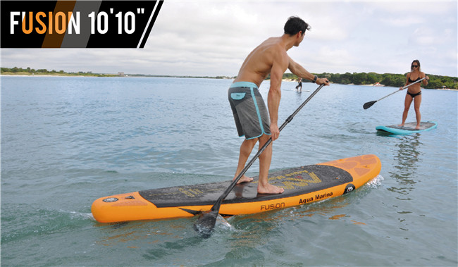 "FreeShipping Fusion 10' 10"""" Stand Up Paddle Board Inflatable Surf board include oar inflation pump bag repair patch(China (Mainland))"
