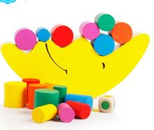 Bright Color High Quanlity Wooden Moon Balancing Blocks Children Educational Toys Learning and Educational Toy For Kids(China (Mainland))