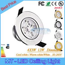 4pcs Led Recessed lamp 9W 12W Led Bulb 85-265V LED lighting led downlight spot light with led driver(China (Mainland))
