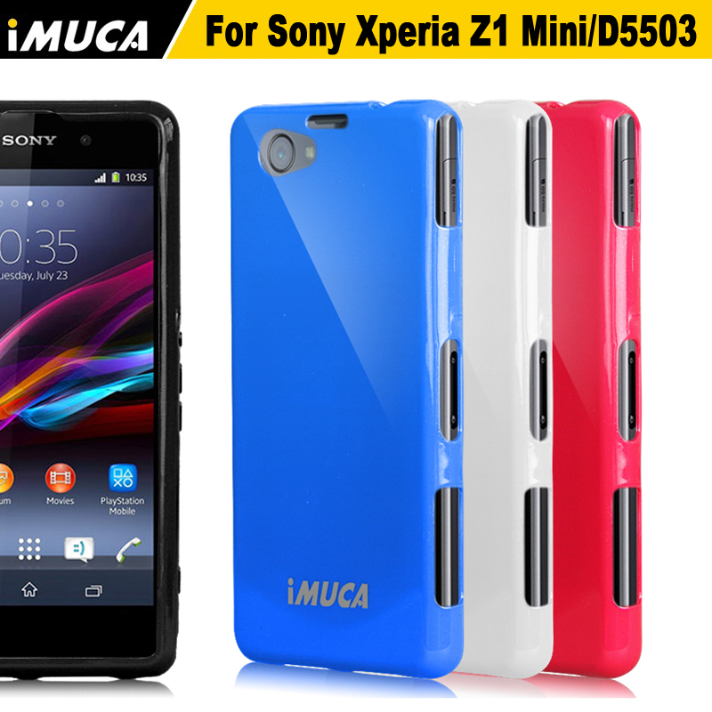Cool Color Cases  for Sony Xperia  Z1 Mini Z1 Compact M51W Flexible Soft Mobile Phone Cover Free Shipping+Screen Protector