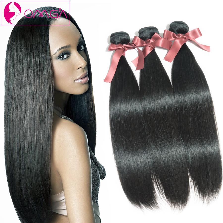 Peruvian Virgin Hair Straight Weave 3 Bundles Unpressed Peruvian Human Hair Extensions 100g/pcs #1B Nature Color Hair Weave <br><br>Aliexpress