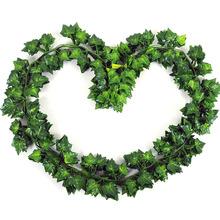 12 Pcs Scindapsus Fake Artificial Ivy Vine Leaf Home Hanging Vine Decorative Foliage Leaf Wedding Decor