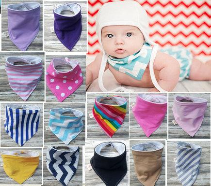 Baby Bandana Bib,Set of 3,Drool Bib,Blue Navy Hickory Stripes,Purple Denim Solid,Scarf Bib,Baby Bib,Boy,Girl,Super Soft Cotton(China (Mainland))