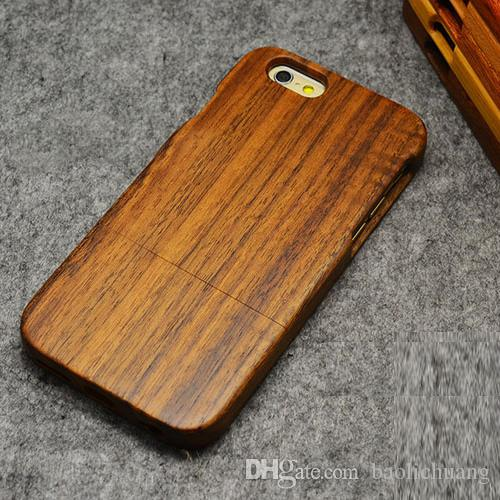 Genuine Solid Wood Case for iphone 6 6Plus 5s 4s Natural Handcrafted Wood True Hardwoods Cell Phone Cover Cherry Bamboo(China (Mainland))